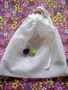 Mesh Drawstring Laundry Wash Bag with colourful toggle