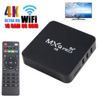 MXQ Pro 4K Smart TV Box Quad Core Android 9.0 1+8G WIFI HDMI USB 3D Media Player