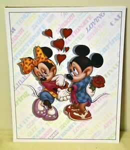 DISNEY MICKEY & MINNIE MOUSE Hearts 16x20 Poster