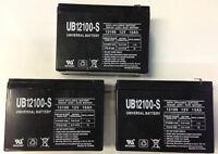 UPG 3 Pack - 12V 10Ah Schwinn ST1000, ST-1000 Stealth Scooter Battery