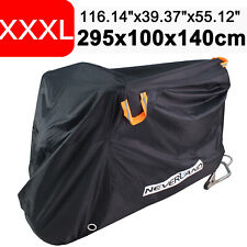 "XXXL 116"" Heavy Duty Waterproof Motorcycle Motorbike Cover Lock Hole Protection"