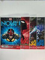 Marvel Now! Nova Lot of 4 Comics: Issues 1 2 3 4  Jeph Loeb