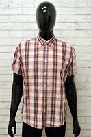 Camicia LEVIS Uomo Taglia L Maglia Shirt Man Cotone Slim Fit Quadri Manica Corta
