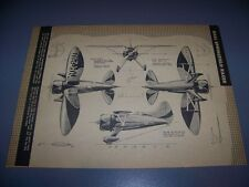 VINTAGE..HALL SPRINGFIELD RACER...4-VIEWS/CROSS SECTIONS..RARE! (655)