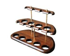 """Tobacco pipe Wooden Display Stand Rack Hold """"Arch 9"""" For 9 Smoking Pipes"""