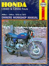 1973 74 75 76 77 HOHDA CB400 & CB550 FOURS  SHOP MANUAL