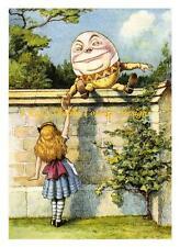 Alice In Wonderland Thru The Looking Glass Humpty Dumpty 5x7 Fabric Block