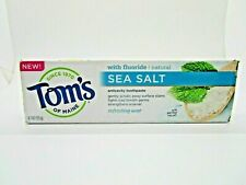 Tom's of Maine Sea Salt Refreshing Mint Toothpaste 4.7 oz New Flavor Exp 2/21