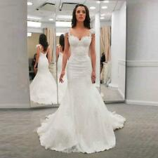 Mermaid Wedding Dresses Sweetheart With Straps Lace Appliques Bridal Gown Custom