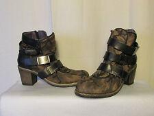 boots/bottines ATRAI daim camouflage et cuir noir 41