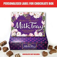 MOTHERS DAY Birthday Personalised Milk Chocolate LABEL Occasion Sticker Gift