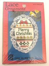 "Christmas Sampler Cross Stitch Ornament Craft Kit 4"" High Holiday"