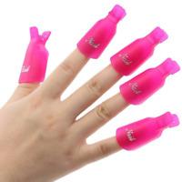 Plastic Acrylic Nail Art Soak Off Clip Cap Remover Wrap Tool UV Gel Polish Rose