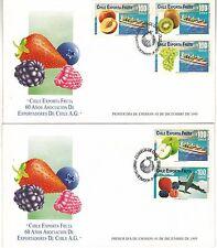 Chile 1995 FDC Exporta Fruta 60 años Asociacion de exportadores de Chile A.G.