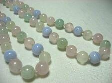 """Quartz Bead Necklace   34"""" long"""