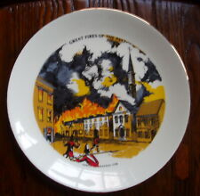 Great Fires of the Past Series Decorative Plate – Lower Manhattan 1776, Vintage