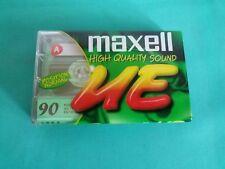 MAXELL UE90 Cassetta TYPE I Vintage RARE NEW SEALED Blank Tape NUOVA SIGILLATA
