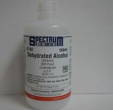Ethanol, dehydrated alcohol, 200 Proof, 99.9% Undenatured, USP, 100ml