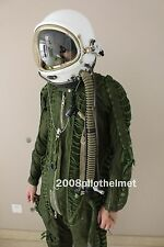 SPACESUIT FLIGHT HELMET AIRTIGHT ASTRONAUT PILOT HELMET+ FLYING SUIT $:489