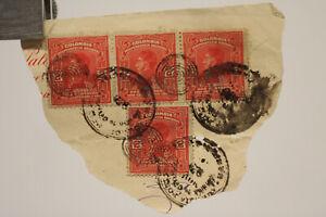 4 selten very old stamp Colombia Briefmarke Kolumbien Brief um 1900