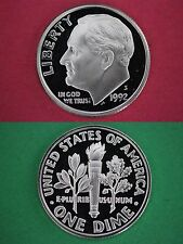 Silver 1992-S Deep Cameo Proof Roosevelt Dime Mirror Finish Combined Shipping