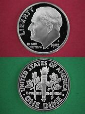 Silver 1992-S Deep Cameo Proof Roosevelt Dime Mirror Finish Flat Rate Shipping