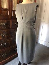 Austin Reed Talla 14 vestido de mezcla de lana gris pálido