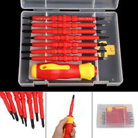 7Pcs Electricians Screwdriver Set Tool Safely Electrical Insulated with Kit Case