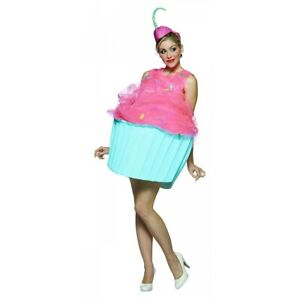 Cupcake Costume Adult Womens Funny Halloween Fancy Dres
