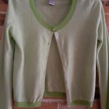 Gap Cashmere Green Striped Cashmere Cardigan - Size S