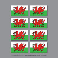 6 X Welsh Wales Dragon Flag Car Bike Helmet Vinyl Stickers Decals 25mm - SKU2569