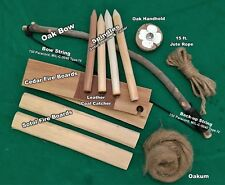 Bow Drill Primitive Fire Kit - Premium Set, complete with written instructions!