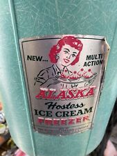 Vintage Alaska Hostess Ice Cream Maker Freezer Hand Crank Kitchen Display