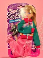 Funville Sparkle Girlz Pink & Green Top & Pants Fashion Outfit fits Barbie