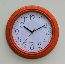 Wall Clock Orange Kitchen School Office Home Shabby Chic Decor Quartz 30cm