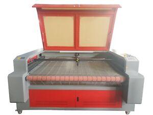 100W HQ1610 CO2 Laser Cutting Machine Cutter /Auto Roll Feeder Conveyor Fabrics