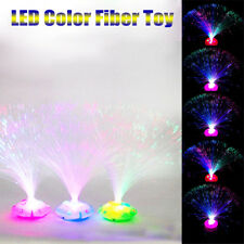 Color Changing LED Fiber Optic Night Light Lamp Stand Decor Colorful Toy Gift