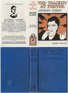 Anthony Gilbert  THE TRAGEDY AT FREYNE  2nd w/fdj 1929 Collins Murder Mystery