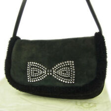 0c5134ce6f51 Auth UGG Ribbon Rhinestone Mouton Leather Mini Shoulder Hand Bag F S 1967