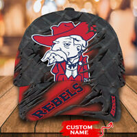 Ole Miss Rebels College-NCAA Teams 3D Mascost Cap Classic CUSTOM NAME
