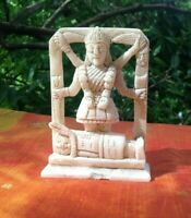 Kali Déesse Statue Antique Pierre tendre Figurine indienne Hindou Sculpture Inde