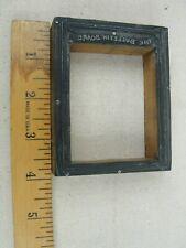 "Vintage Letterpress Printers Block ""THE BULLETIN BOARD BORDER"" Aluminum & Wood"