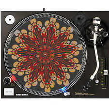 Portable Products Dj Turntable Slipmat 12 inch - Dead Flower Skulls