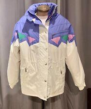 Vintage Ladies Killy 2 Piece Snow Suit Jacket & Trousers White Pink Purple