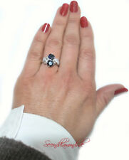 Vintage Liebesring Safir Diamantring Gold Toi & Moi Ring Diamonds Bague