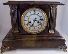 Antique 1898 Waterbury Clock Co SAREPTA shelf USA mantel 11x14 8-day wood/marble