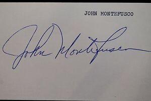 John Montefusco Padres Giants Braves Yankees Autographed 3x5 Index Card JSA 17D