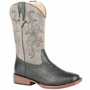 Roper Gator Embossed Square Toe     Kids Boys  Western Cowboy Boots   Mid Calf