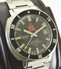 Rare Automatic Seiko 7005 8140 Iranian Royal Army Diver Steel Watch