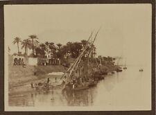 Egypte Esneh Felouque Photo P15L1n2 Vintage Argentique c1900